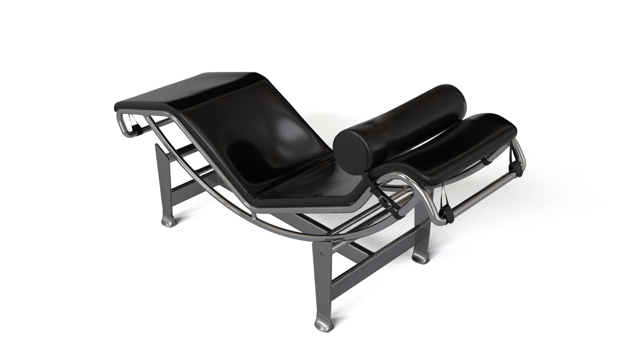 lounge chaise chair corbusier leather prunelle noir products cuir longue le