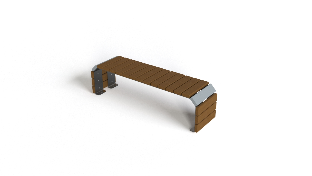 Lumini-K designer exterior bench 3D model