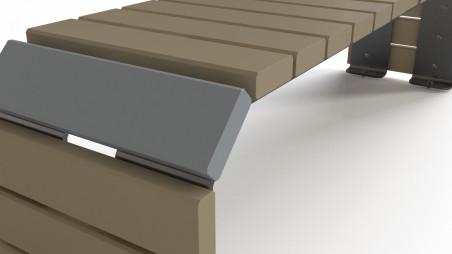 Lumini-K designer exterior bench 3D model