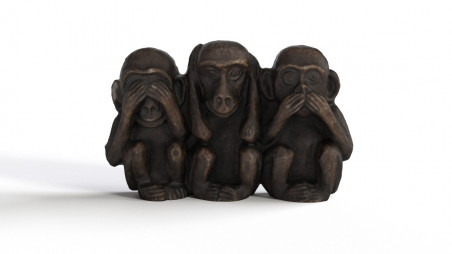 Monkeys wooden decoration