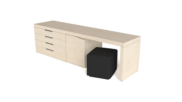 Night table with ottoman