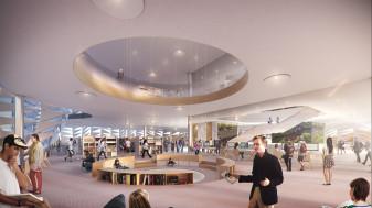 Library interior postproduction