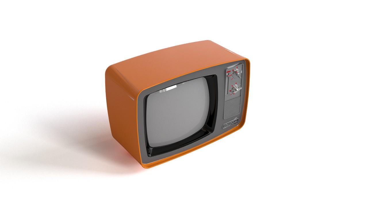 Old TV 3D model
