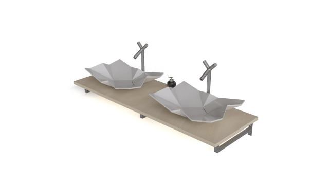 Origami washbasin