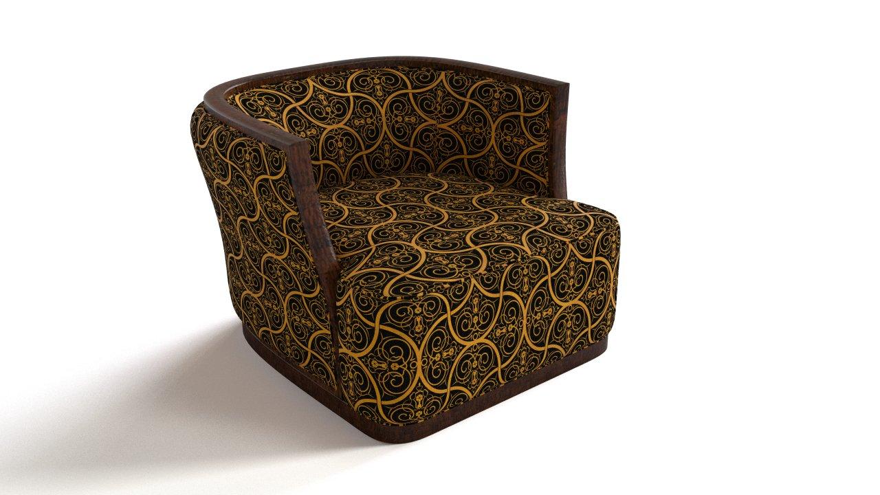 Ornamental wooden armchair