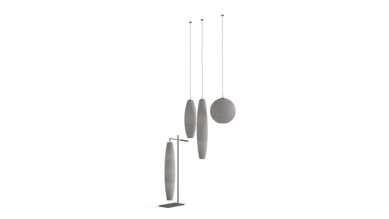 Pendant and stand-alone lamps set