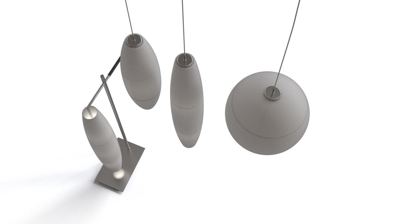 Pendant And Stand Alone Lamps Set