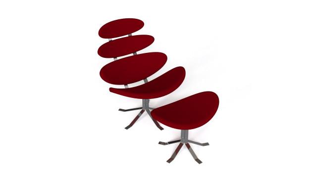 Petal Lounge Chair with ottoman