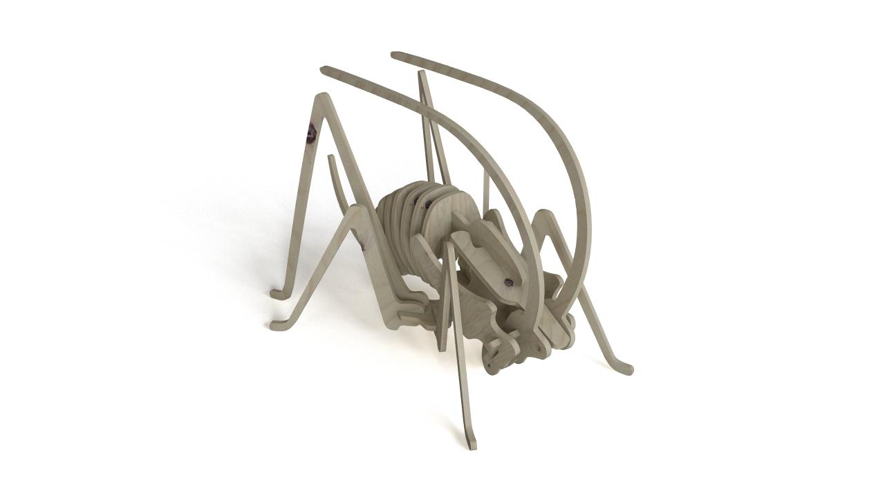 Plywood Grasshopper