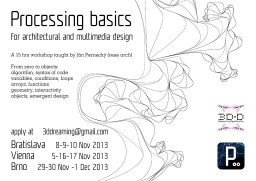 Processing basics for architectural and multimedia design