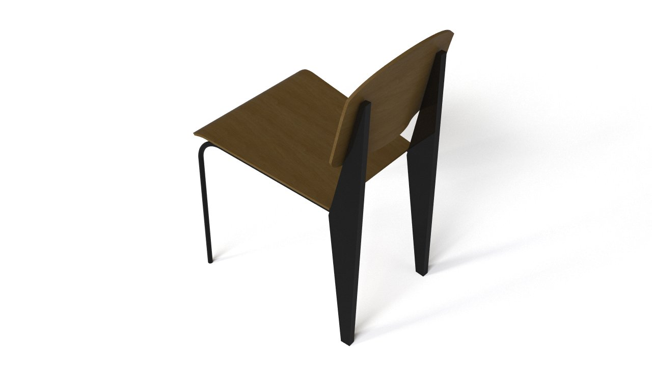 Prouve chaise flyingarchitecture for Chaise jean prouve
