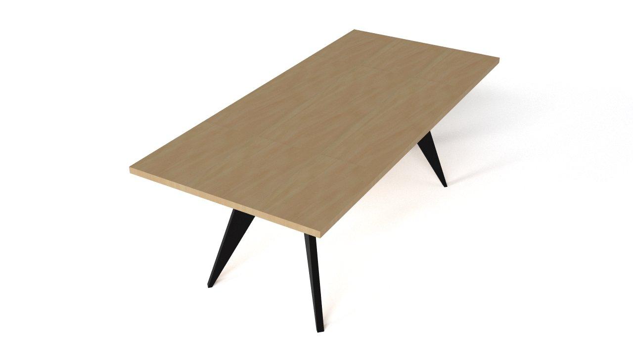 prouve em table 1950 flyingarchitecture. Black Bedroom Furniture Sets. Home Design Ideas