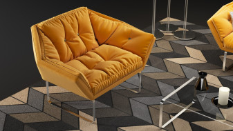New 3D model of a sofa and armchair