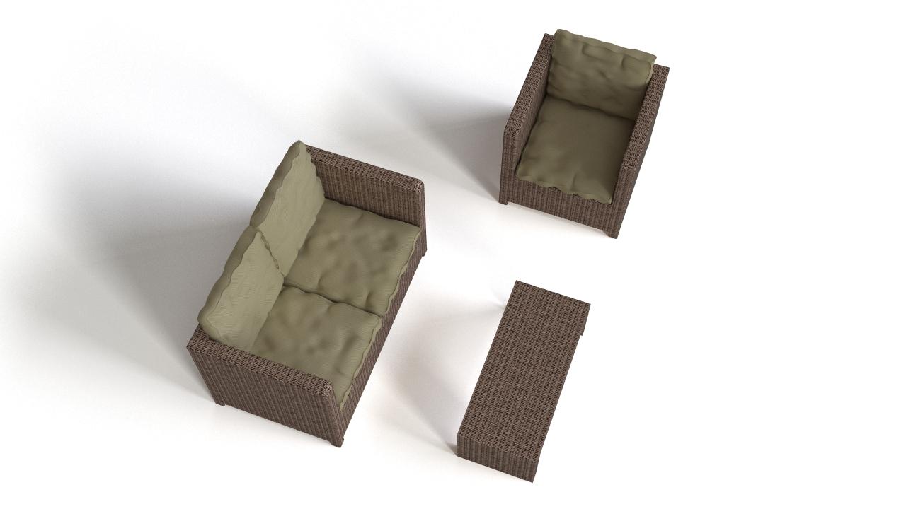 Rattan patio seating
