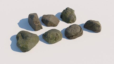 Scanned round rocks