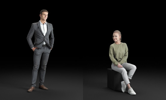 Humano3D - Business and Casual Free 3D people