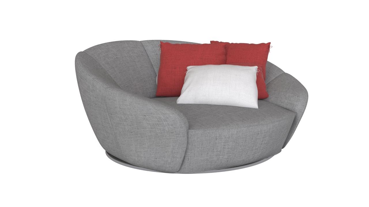Round armchair
