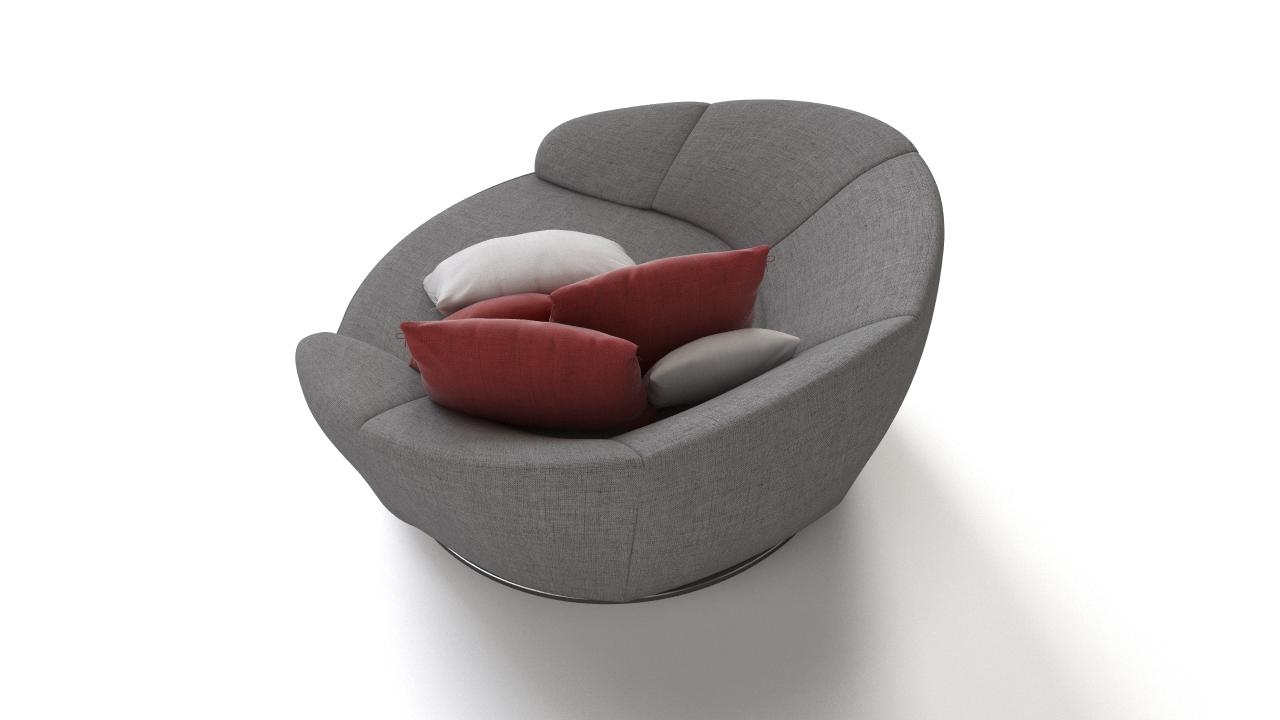 354 round armchair 3