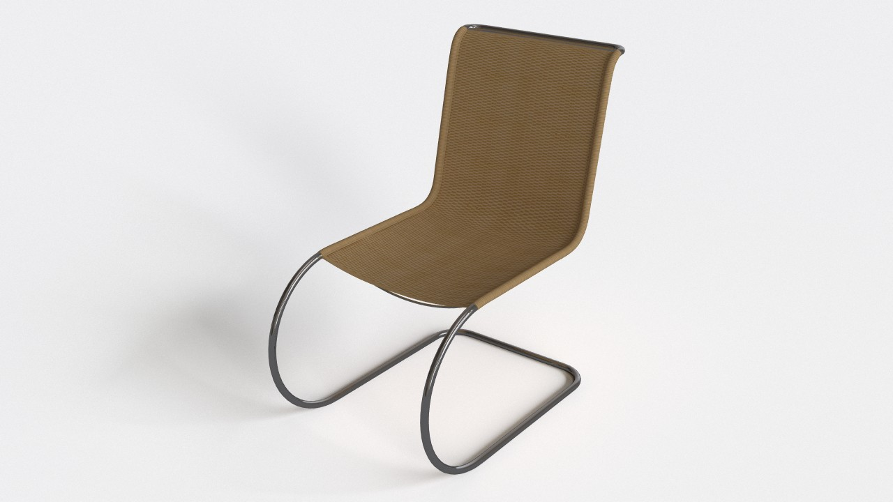 S533r legendary chair by Mies van der Rohe