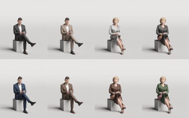Humano3D - Elegant 3D people - vol.3
