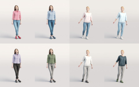 Humano3D - Casual 3D people - vol.2