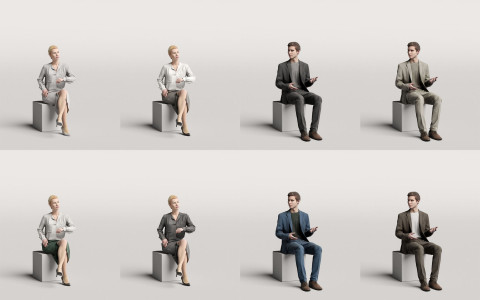 Humano3D - Business 3D people - vol.1