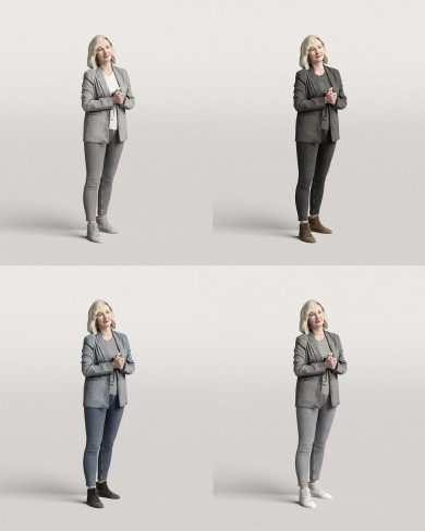 3D Business people - Woman 01