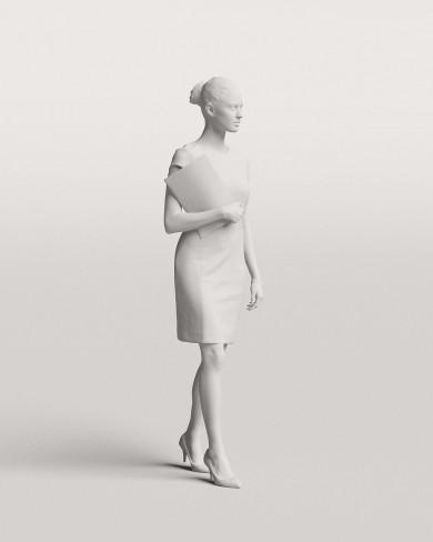 3D Business people - Woman 02