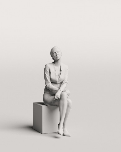 3D Business people - Woman 03
