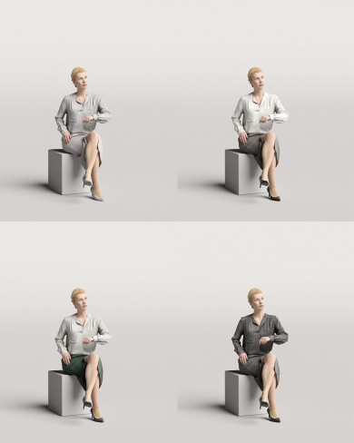 3D Business people - Woman 04