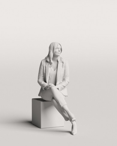 3D Business people - Woman 05