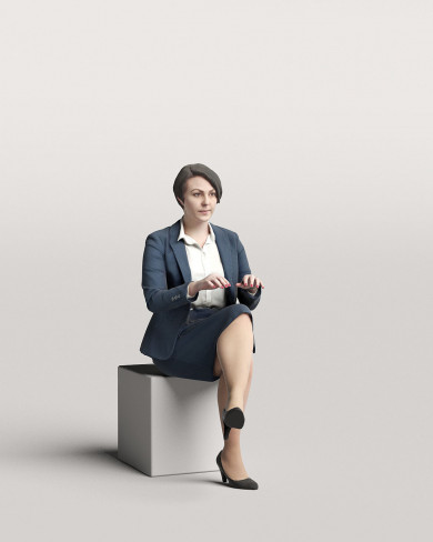 3D Business people - Woman 07