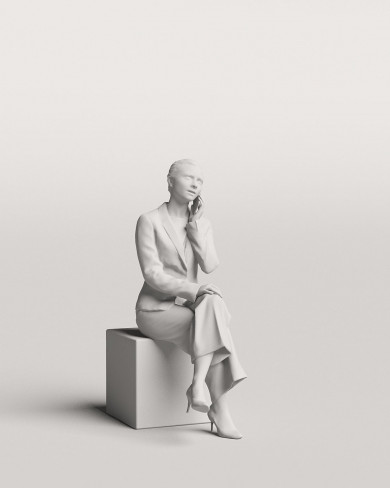 3D Business people - Woman 08