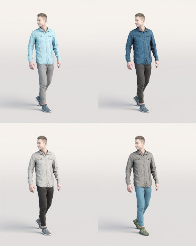 3D Casual people - Man 01