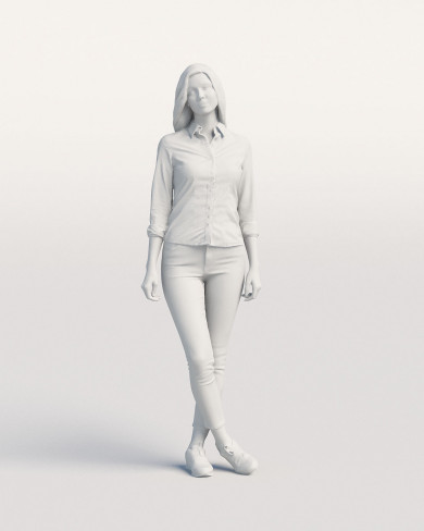 3D Casual people - Woman 02