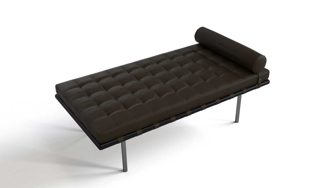 barcelona daybed mies van der rohe flyingarchitecture. Black Bedroom Furniture Sets. Home Design Ideas