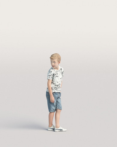 3D Casual people - Kid 02
