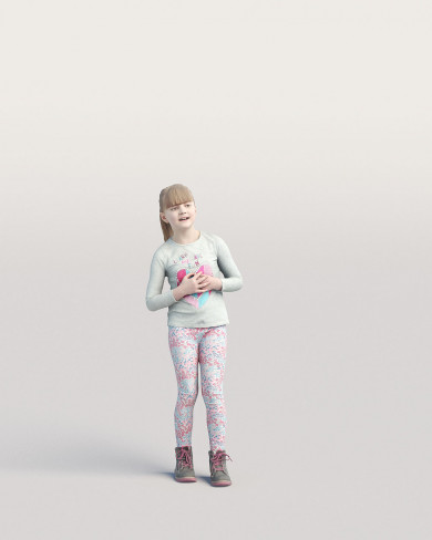 3D Casual people - Kid 03