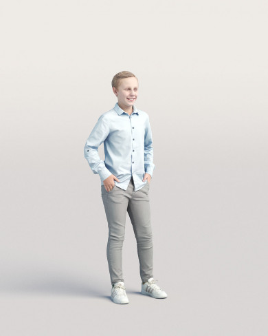 3D Casual people - Kid 04