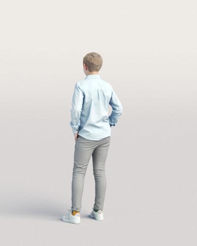 3D Casual people - Kid 04