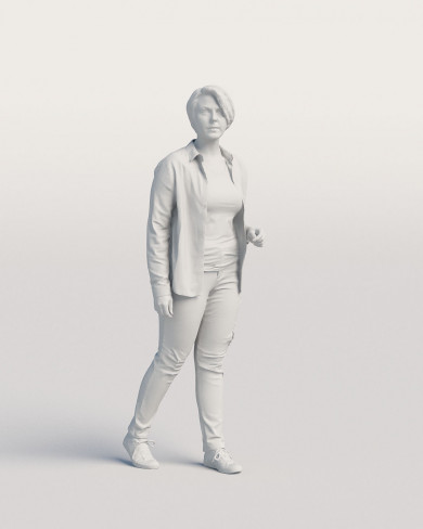 3D Casual people - Woman 07