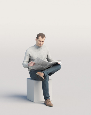 3D Casual people - Man 08