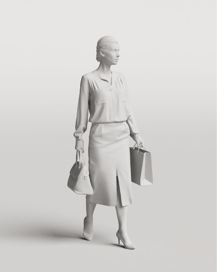 3D Elegant people - Woman 02