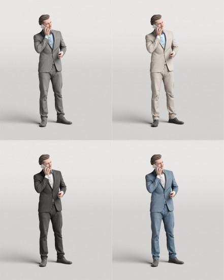 3D Elegant people - Man 07