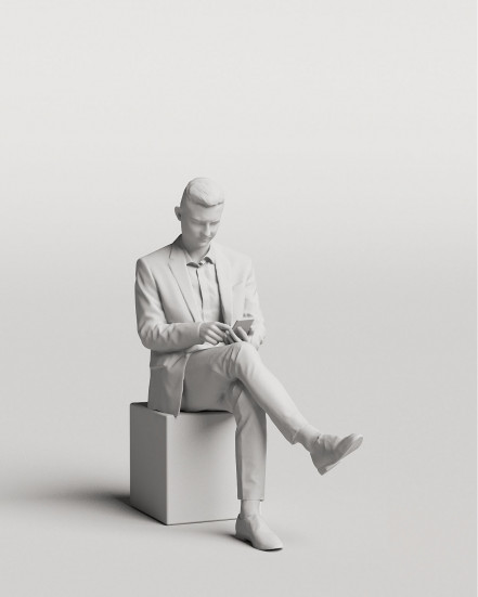 3D Elegant people - Man 08