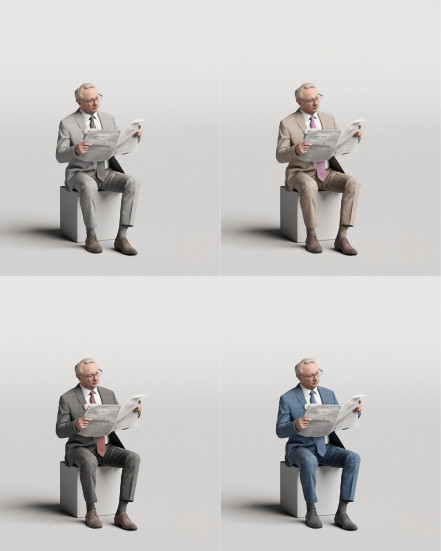 3D Elegant people - Man 09