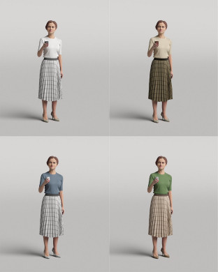 3D Diverse people - Woman 03