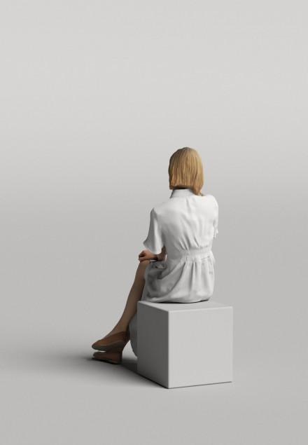 3D Diverse people - Woman 04