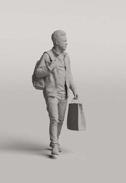 3D Diverse people - Man 02