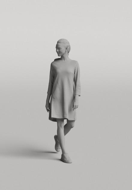 3D Diverse people - Woman 07